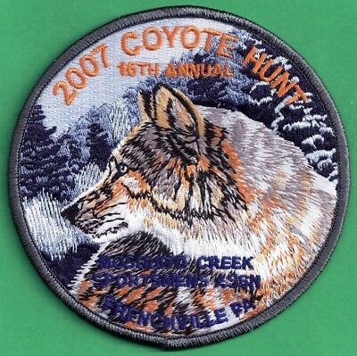 Pa Pennsylvania Game Fish Commission NEW Mosquito Creek Coyote Hunt 2007 Patch