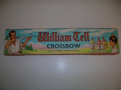 VINTAGE 1960s WILLIAM TELL TOY  CROSSBOW BOXED