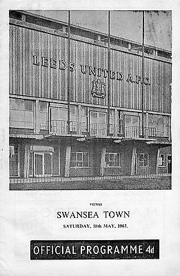 LEEDS UNITED v SWANSEA TOWN  MAY 1963