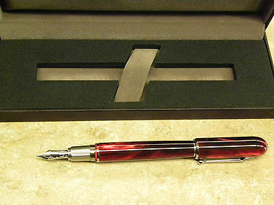 dunhill Mini Sidecar Red resin Fountain Pen F new