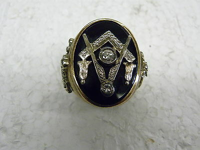 Masonic 14K Yellow gold 32nd Degree Mason Eagle Vintage Ring
