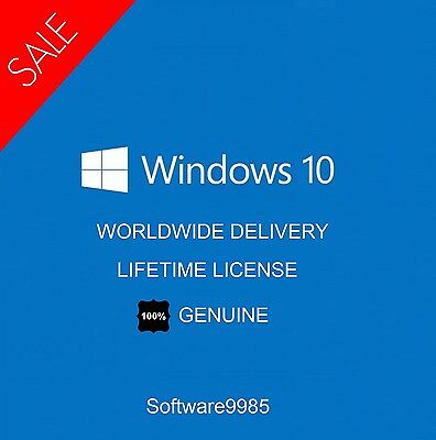 Windows 10 Pro Genuine 32 / 64Bit Original License Key Scrap Pc
