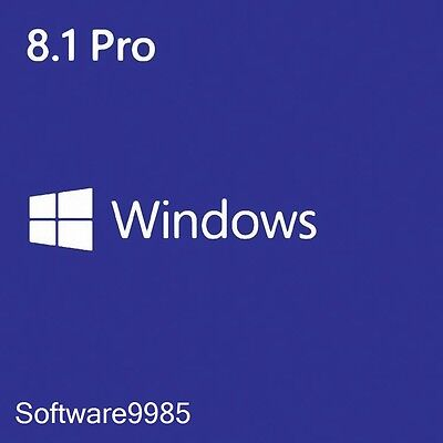 Windows 8.1 Pro 32/64 Bit Genuine License Key Product Code Scrap Pc