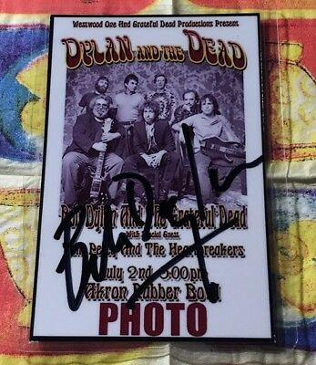 Bob Dylan, Photo Pass! Original Handsigniert! Signed!