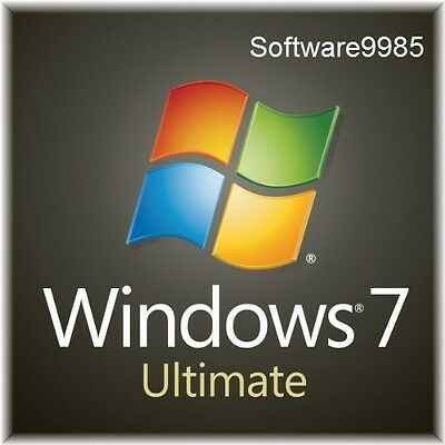 Original Windows 7 Ultimate 32 / 64Bit Sp1  Genuine License Key Scrap Pc
