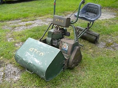 """atco royal petrol ride on lawnmower 24"""" cut. good working condition.."""