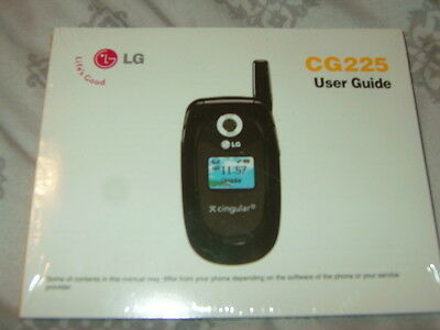 New in Factory Sealed Wrap LG Cingular User Guide CG225 in English & Spanish