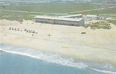 Nags Head North Carolina aerial view Outer Banks Motor Lodge vintage pc (Z40702)