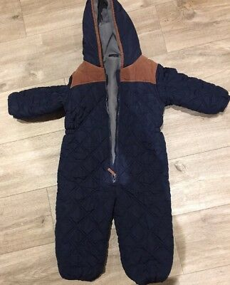 next Navy Quilted Snowsuit/ All In One - 2/3 Years