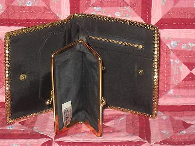 WHITING AND DAVIS VINTAGE Gold Mesh Wallet W/ Many compartments check pictures