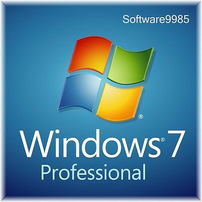 Original Windows 7 Pro 32 / 64Bit Sp1  Genuine License Key Scrap Pc