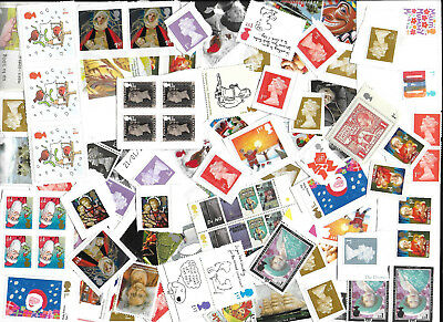 GB 100 VARIOUS NEW (NEVER USED) 1st CLASS STAMPS £65 FACE VALUE