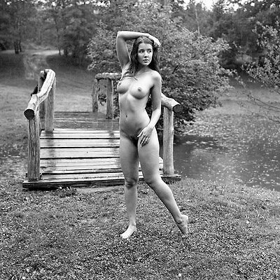oa264 beautiful naked nude girl art med format 6x6 B/W original negative risque