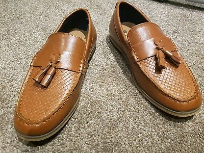 Boys River Island  Brown loafers moccasins slip on shoes size 1