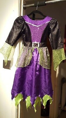 Girls Halloween Witches Costume age 7 - 8 years