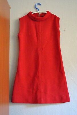 original vtg 60er mod space age mini kleid quality rare iconic psych stewardess