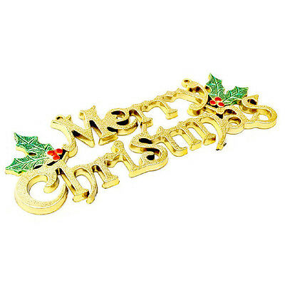 20cm Christmas Tree Decoration Shiny Merry Letter Card for Xmas Hanging Ornament