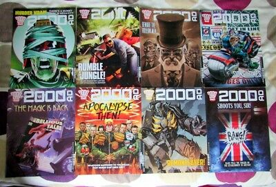 2000Ad Back Progs - 2040, 2041, 2042, 2043, 2044, 2045, 2046, 2047