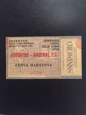 Ticket: Juventus V Arsenal 23/04/1980 ECWC Semi-Final
