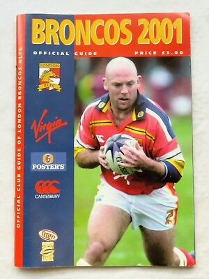 London Broncos 2001 Official Club Guide Book. Immaculate.