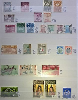 Thailand 1951-1984 Mint & Used lot. 89 Stamps.