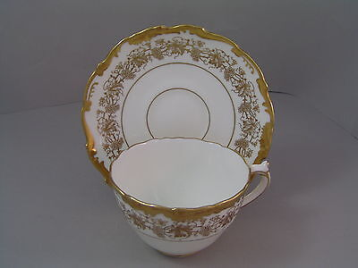 Coalport Hazelton Gold Coffee Cup And Saucer.