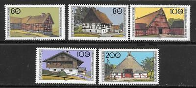 GERMANY - 1995.  Humanitarian Relief Funds - Farmhouses (1st) - Set of 5, MNH