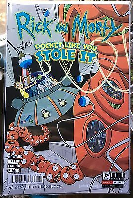 Rick and Morty POCKET LIKE YOU STOLE IT #1 RARE Nerdblock Variant SIGNED