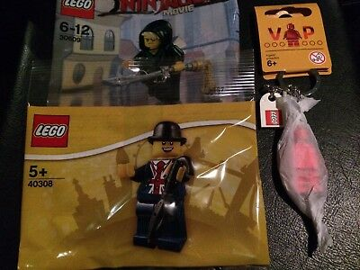 Lego Lester minifigure 40308 exclusive from Leicester Square store Plus Extras *