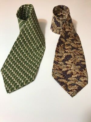 LOT OF 2 MEN'S SILK  TIES COCKTAIL COLLECTION Vodka/ Gin & Tonic