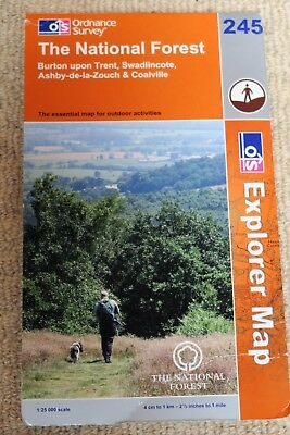 Ordnance Survey Explorer Map 245 of The National Forest (Leicestershire)