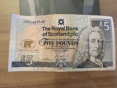 Jack Nicklaus 2005 RBS Open Championship £5 Note Five Pound Cash