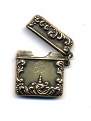 Sterling Silver Vesta - Small Case Used For Postage Stamps and/or a Match Safe