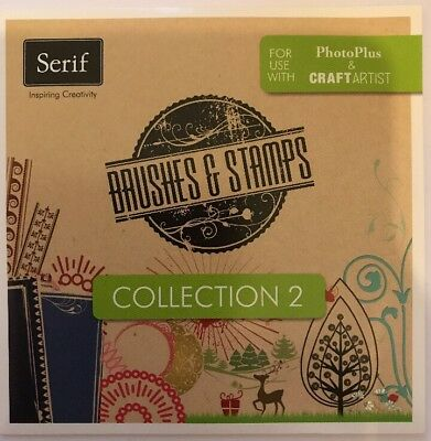 Serif Brushes & Stamps Collection 2 CD-ROM New