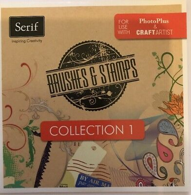 Serif Brushes & Stamps Collection 1 CD-ROM New