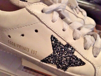 Golden Goose Deluxe Brand.Superstar Limited EDT Distressed Leather Sneakers.New