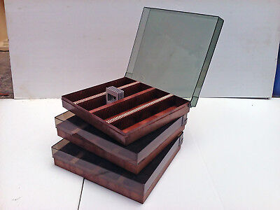 3x Boots Compact 200 slide storage box case for 35mm slides collect TW11 REVISED