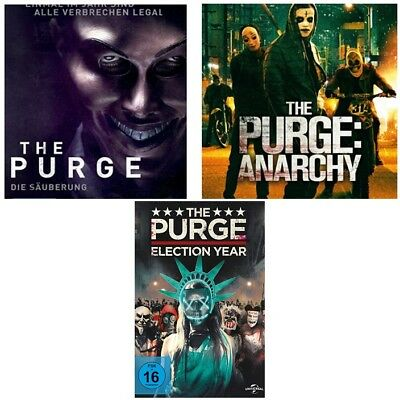 The  Purge 1+2+3 -DVDs- SET-OVP- Säuberung + Anarchy + Election Year