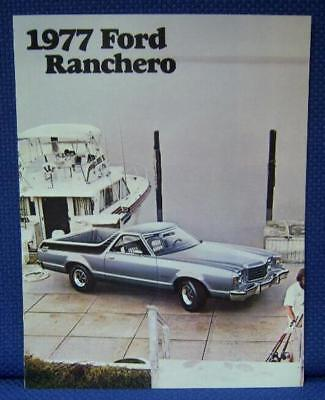 1977 Ford RANCHERO Luxury Pickup Truck Car Brochure - NOS Mint Condition