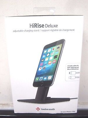 New Twelve South HiRise Deluxe Charging Stand for Lighting microUSB Devices