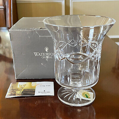 Waterford Crystal DOLMEN Pillar Candle Hurricane / Vase Celtic Knot Beautiful