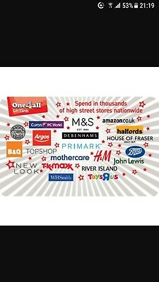 One4All Voucher £100 spend in thousands of High Street stores and online