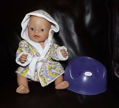 Zapf Creations, Baby Born, 2006, potty, dressing gown
