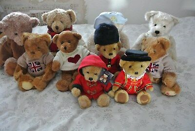 Collection of 10 Harrods Bears - perfect condition