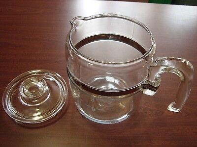 PYREX 9 CUP FLAMEWARE Percolator Coffee Pot WITH LID STOVE TOP Replacement