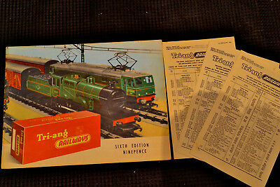 Triang Rovex  Six Edition Catalogue With Price List's, 1960, Near Mint Condition