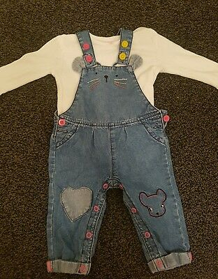 baby girls dungarees 6-9 months