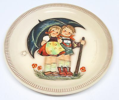 Hummel Stormy Weather First Edition Anniversary Plate 1975 Goebel West Germany