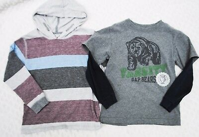 Gap First Wave Lot Hoodie Gray Long Sleeve Boys Top Shirt Size 5