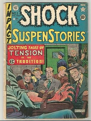 SHOCK SuspenStories issue 1 (1952) CLASSIC Execution by Electirc Chair cover!!!